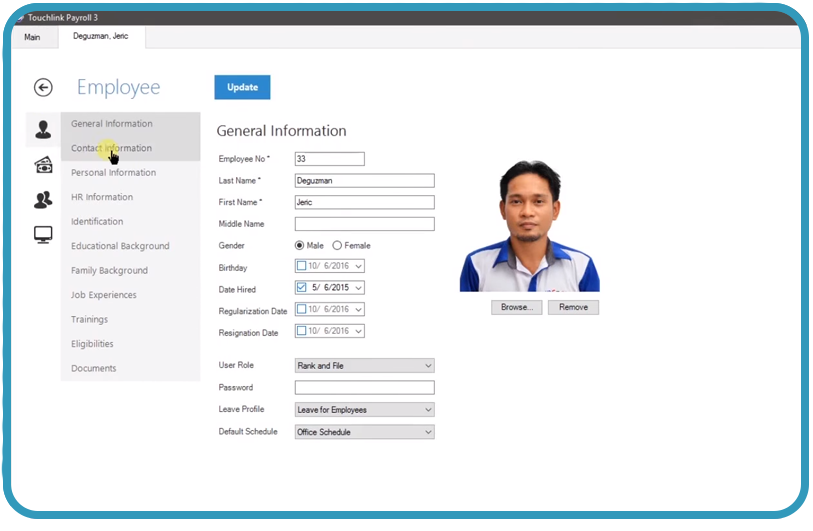 Touchlink_Employee Database