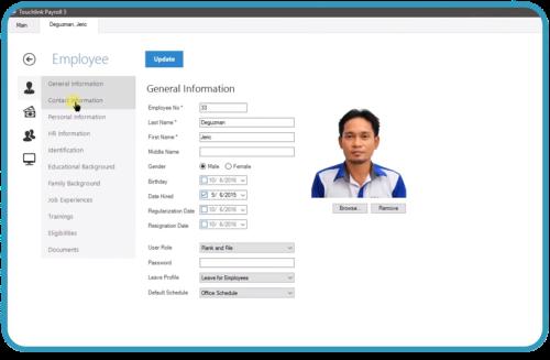 Touchlink_Employee Database
